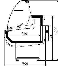 Харектеристика стандартна витрина